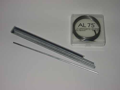 Bevorzugt Alu löten mit AL75 (Giesslieren) CI93