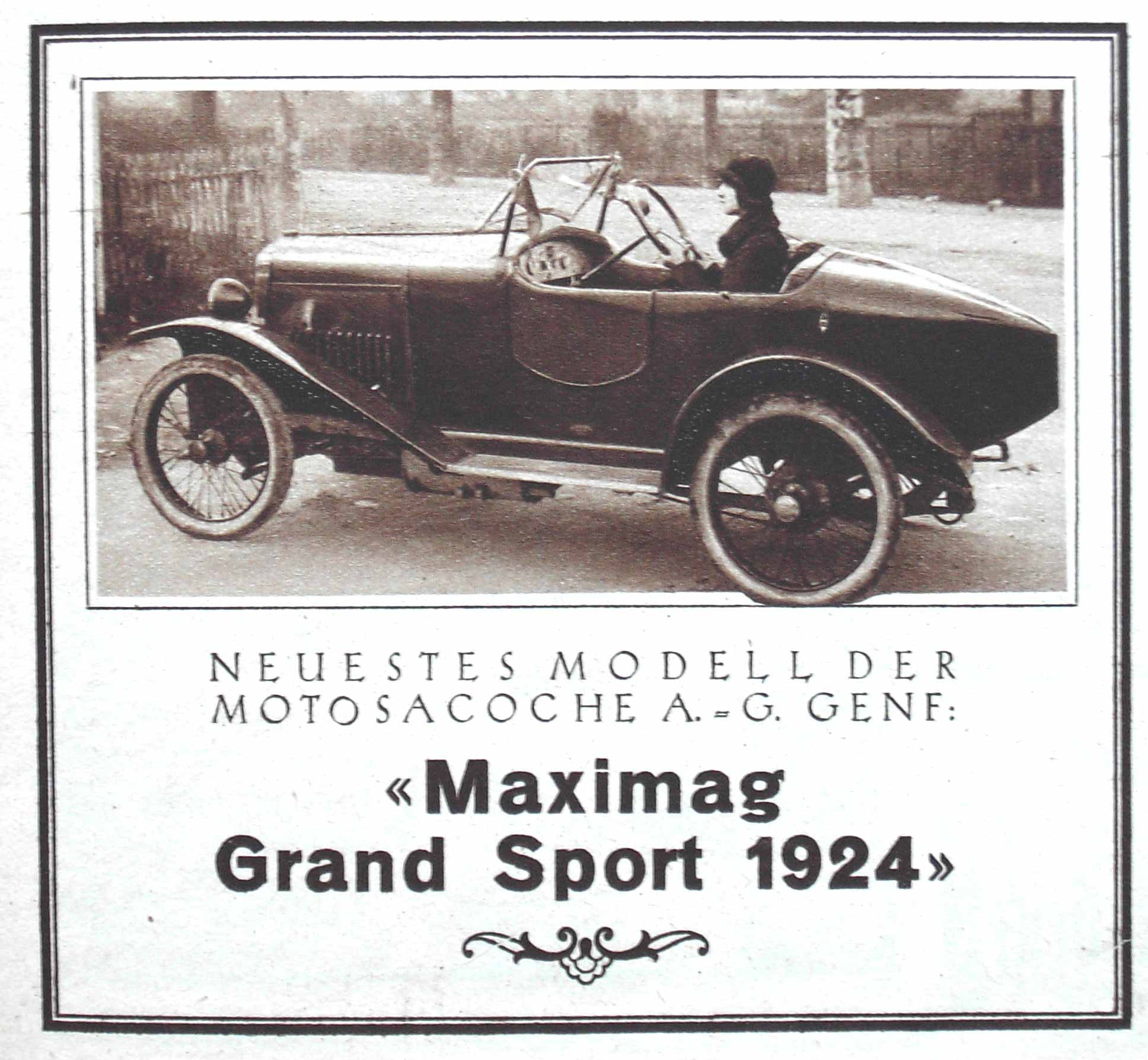 Schweizer Werbung Motosacoche 1924